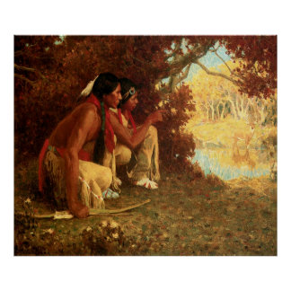 Hunting for Deer, by Eanger Irving Couse Poster