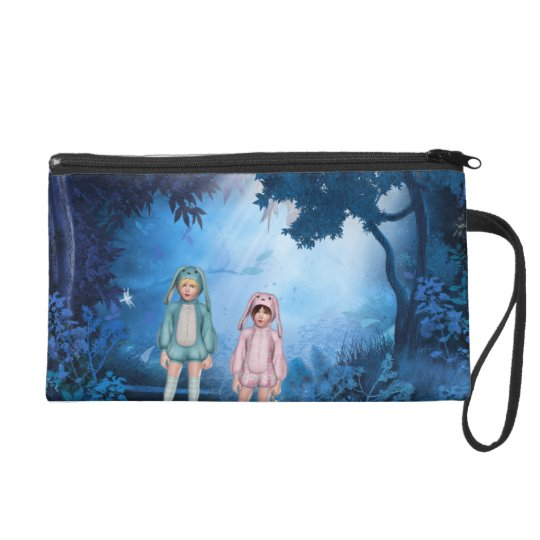 Hunting for eggs wristlet purse
