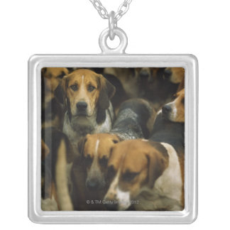 Hunting foxhounds, Galway Blazers, Ireland Silver Plated Necklace
