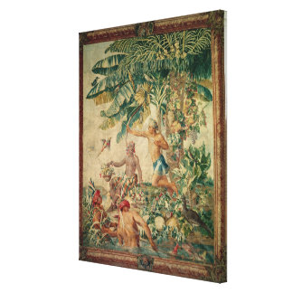 Hunting, from the 'Tenture des Nouvelles Canvas Print