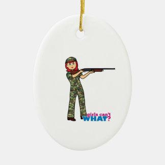 Hunting Girl Ceramic Ornament