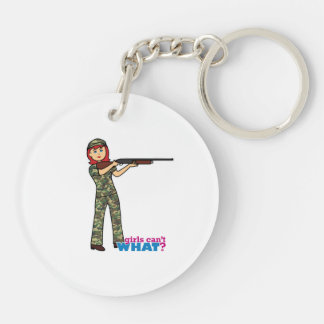 Hunting Girl Keychain