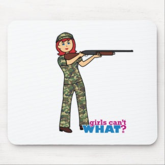 Hunting Girl Mouse Pad