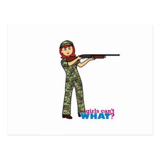 Hunting Girl Postcard