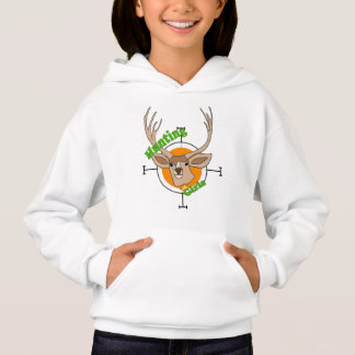 Hunting girls with deer and bulls-eye hoodie