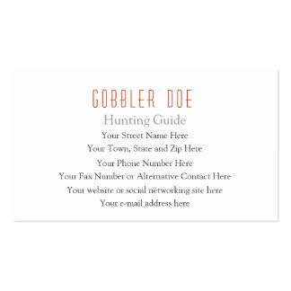 Hunting Guide Two-Sided Double-Sided Standard Business Cards (Pack Of 100)