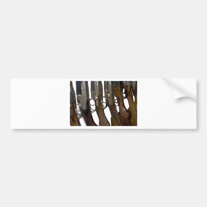 hunting guns bumper sticker