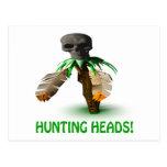 Hunting Heads Postcard