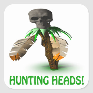 Hunting Heads Square Sticker