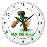 Hunting Heads Wallclock