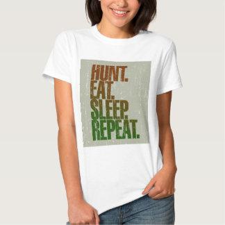 Hunting Hunter 'Hunt, Eat, Sleep, Repeat' Shirt