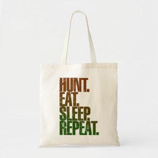 Hunting Hunter 'Hunt, Eat, Sleep, Repeat' Tote Bag