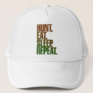 Hunting Hunter 'Hunt, Eat, Sleep, Repeat' Trucker Hat