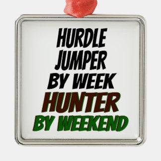 Hunting Hurdle Jumper Metal Ornament