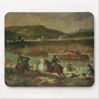 Hunting in the Forest at Compiegne Mouse Pad
