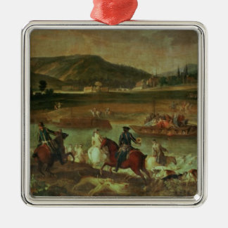 Hunting in the Forest at Compiegne Ornament