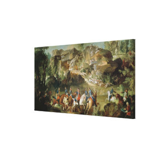 Hunting in the Forest of Fontainebleau Canvas Print