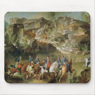 Hunting in the Forest of Fontainebleau Mouse Pad