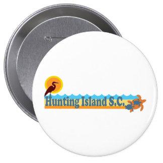 Hunting Island. 4 Inch Round Button