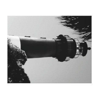 Hunting Island Light House Stretched Canvas Print