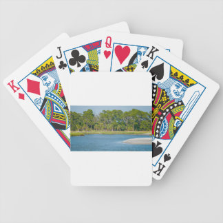 hunting island north carolina nature landscapes bicycle playing cards