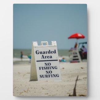 hunting island south carolina life guard plaque