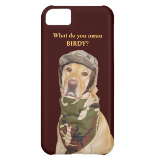 Hunting Lab in Camouflage Cover For iPhone 5C