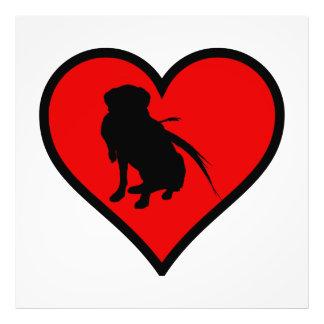 Hunting Labrador Retriever Heart Love Dogs Photo Print