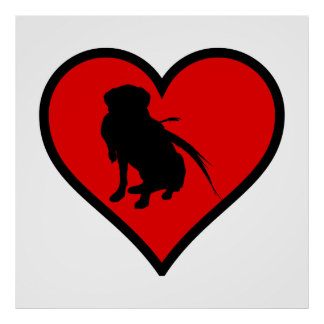 Hunting Labrador Retriever Heart Love Dogs Poster