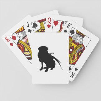 Hunting Labrador Retriever Silhouette Love Dogs Playing Cards