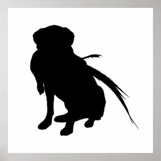 Hunting Labrador Retriever Silhouette Love Dogs Poster