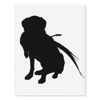 hunting labrador retriever silhouette love dogs temporary tattoos