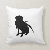 Hunting Labrador Retriever Silhouette Love Dogs Throw Pillow