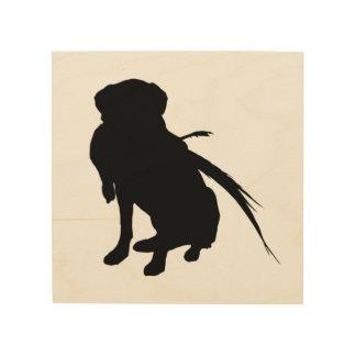Hunting Labrador Retriever Silhouette Love Dogs Wood Wall Art