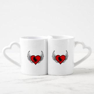 Hunting Labrador Retriever Winged Heart Love Dogs Coffee Mug Set