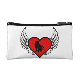 Hunting Labrador Retriever Winged Heart Love Dogs Cosmetic Bag