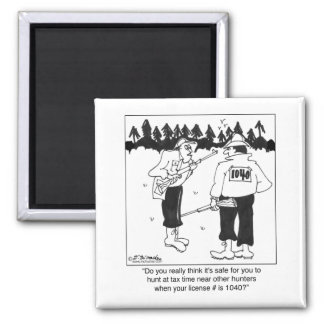 Hunting License 1040 2 Inch Square Magnet