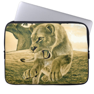 Hunting Lioness Computer Sleeve
