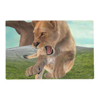 Hunting Lioness Placemat
