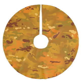 Hunting Orange Camouflage Brushed Polyester Tree Skirt