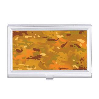 Hunting Orange Camouflage Business Card Case