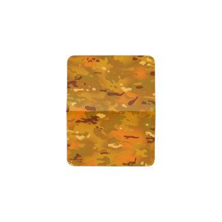 Hunting Orange Camouflage Business Card Holder
