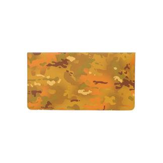 Hunting Orange Camouflage Checkbook Cover