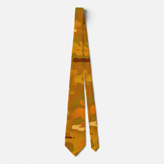 Hunting Orange Camouflage Neck Tie