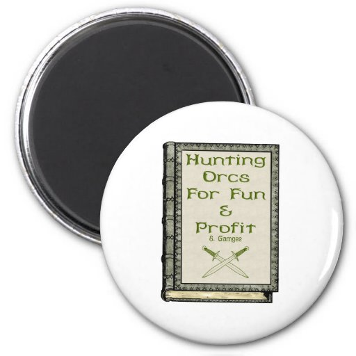 Hunting Orcs 2 Inch Round Magnet