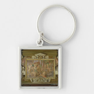 Hunting out Ignorance, detail of decorative scheme Silver-Colored Square Keychain