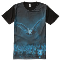hunting owl and mouse all over print tshirt All-Over print t-shirt