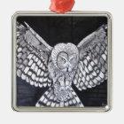 Hunting Owl Metal Ornament