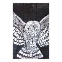 Hunting Owl Stationery