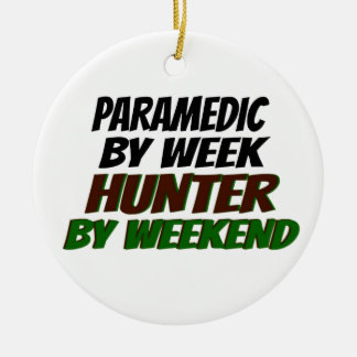 Hunting Paramedic Double-Sided Ceramic Round Christmas Ornament